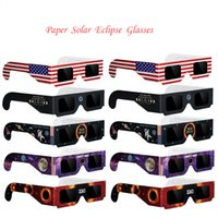 Wholesale Toy Eye Glasses - 2017 New Arrival USA Solar Eclipse Glasses Paper Solar Glass Viewing Eyeglasses Protect Your Eyes Safe When 21th August Wholesale DHL Free