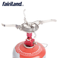 Wholesale Camping Gas Propane Butane - 3500W Mini portable camping gas stove ultralight folding propane butane burner pocket stainless steel cookware outdoor Furnace with case
