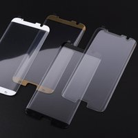 Wholesale Washable Leather Wholesale - For Galaxy NOTE 8 S8 3D Curved Tempered Glass Shield Curve Screen Protector Full Cover Fit Leather Case for Samsung plus S7 edge