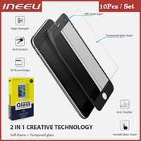 Wholesale Soft Glass Wholesale - 10pcs 0.2mm Full Covered 3D Tempered Glass For iPhone 6 6S Plus 7 7Plus Carbon Fiber Soft Edge Screen Protector with Package
