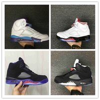 Flat black tongue - Original Men Air Retro V Raging Bull Red Suede Tongue Reflect Basketball Shoes Retro s Bull Blue Sneakers Shoes size