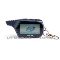 pager car alarms - New arrival Russian version lcd B6 pager for way car alarm security system B6 Only Two way remote keychain B6