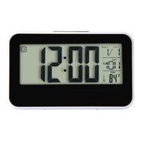 Wholesale High Temperature Alarm - Wholesale-1PC Happy Gifts High Quality Fashion Creative Smart Clock LED Snooze Alarm Calendar Temperature