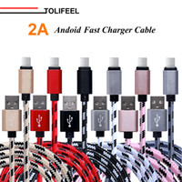 Wholesale Data Sync Charge Cable - 2A Woven Bylon Micro USB Cable Fast Charging USB Charger Cable Data Sync Cable for Samsung Xiaomi HTC LG Android 1M 2M 3M
