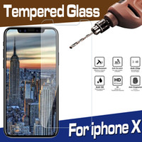 clear screen anti guard film großhandel-9 h premium klar transparent gehärtetes glas displayschutzfolie schutzfolie für iphone xs max xr x 8 7 6 plus 5 se antiklopf kratzfest