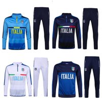Wholesale Training Linen - football jerseys Wholesale 2016 2017 Thai Quality New 16 17 Real Italian Long Sleeve Training Clothing embroidery Free Shipping