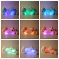 Atacado- 50cm Inductive LED Flash Light Colorful Soft Plush Stuffed Dog Toy Presentes nova venda mundial
