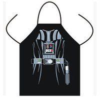 Wholesale Cartoon Waist - Apron Star Wars Giant apron Boba fett Wonder women Anime Cartoon Character Series Kitchen Apron Funny Personality Cooking Gift Mermaid
