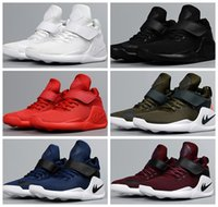 Wholesale Gold Flats For Girls - Kids Air KWAZI Running Shoes For Boys girls Black Red White High Quality basketball Boots Children Outdoor Sneakers athletic Casual Sport