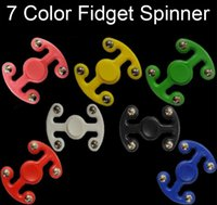 Wholesale Plastic Octopus Toy - Plastic Octopus 7 Colors Hand Fidget Spinners Toys High Spinning Relief Stress Gyro EDC Octopus Finger Toy For Kids Adults with Retail Box