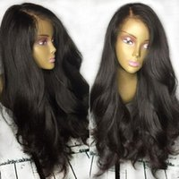 Wholesale Virgin China Lace Wig - Top Grade China Virgin Hair Straight Human Hair Wigs For Black Women Wigs With Baby Hair Glueless Full Lace Wig lace front wig