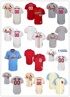 st collection - Men s Custom any name number St Louis Cardinals blank Baseball Jersey Flexbase Collection For Sale stitched size S XL