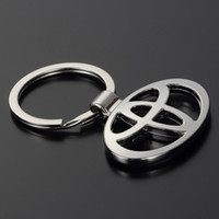 Wholesale Toyota Key Chain Rings - Car Styling Fashion Metal 3D Car Logo Key Rings Key Chain Keychain for Toyota Car-Styling Key Holder Auto Pendant