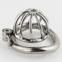Wholesale Latest Stainless Steel Male Chastity Device Unique Design Chastity Cage With Arc Shaped Cock Ring Penis Ring Sex Toys Men