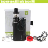 caixa dh venda por atacado-Autêntico Vaporesso Atitude Kit Vape 80 W Caixa TC Mod Eco Universal EUC Bobina Estoc atomizador Tanque OMNI Chipset vapor mods e cig vaporizador DH