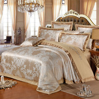 Wholesale full size blue bedding online - Chinese wedding style Jacquard bedding cotton Bedding Sets Silk Duvet Cover Sets Queen King Size Many Luxury Bedding