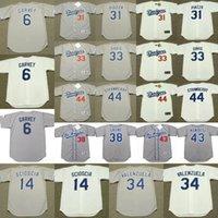 Wholesale Gold S 14 - Men's Los Angeles Dodgers 31 MIKE PIAZZA 44 DARRYL STRAWBERRY 6 STEVE GARVEY 14 MIKE SCIOSCIA 34 FERNANDO VALENZUELA 38 ERIC GAGNE Jersey