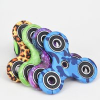 Wholesale fingertips music - 5Pcs NEW Good Quality 3D Camo Triangular Fingertips Spinner Colorful Fidget Hand Spinner EDC Toy Gift Decompression Toy With Retail box