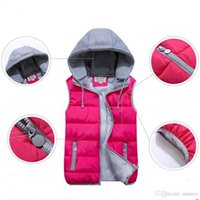 Wholesale Womens Hot Thicken - hooded Waistcoats Removable Womens Vest hot Brand New Female Winter Warm Thicken Jackets Overwinter Cardigan Outerwear