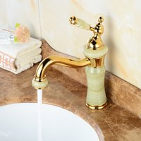 Gold black marble basin - Gold faucet washbasin five star hotel faucet hot selling marble basin faucet deck mounted basin taps bathroom faucets