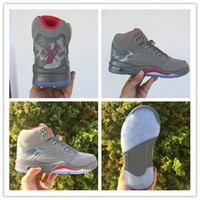 Wholesale room culture - 2017 Mens 5 CAMO Basketball Shoes camouflage trophy room 5s V Fashion Sneakers Grey Red Training Shoes With Box