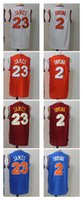 Wholesale Mixed Top Quality - 2017 New arrivals LeBron James 23 Kyrie Irving 2 Cavs Jersey Top Quality Embroidery Men Jerseys mixed orders