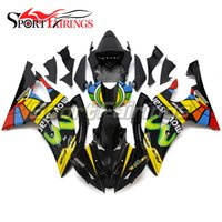 Wholesale Motorcycle Plastic Yamaha R6 - Fairings For Yamaha YZF600 R6 YZF-R6 08 09 10 11 12 13 14 Injection ABS Plastic Motorcycle Fairing Kit BlackYellow Bodywork Hulls