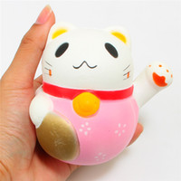 10CM Kawaii Lucky Cat Squishy Jumbo Pussy Animal Slow Rising Soft Squeeze Stretchy Scented Bread Cake Kid Diversão Toy Gift Doll