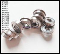 Wholesale Thin Wall Ball Bearings - Wholesale- 10pcs Lot MF115ZZ MF115 ZZ 5x11x4mm Miniature Flange Bearing Thin Wall Deep Groove Ball Radial Ball Bearing Brand New