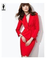 Wholesale Red Skirt Suits - UR Red Elegant Women Skirt Suit Female Bussiness Office Skirt Suit Women Work Suit Blazer With Skirt Set Women Formal Suits With Skirts