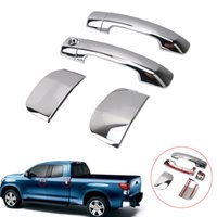 Wholesale Toyota Chrome Door Handles - Triple Chrome Plated ABS 4 Door Handle no Passenger Keyhole Cover for TOYOTA TUNDRA DOUBLE CAB 2007-2015 RC010