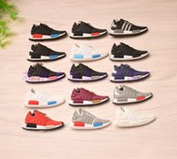 Wholesale Cross Light Wholesale - High quality NMD shoes key button Keychain can be customized new color
