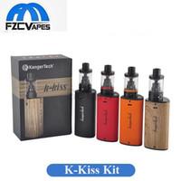 Wholesale Kiss Heads - Authentic Kanger K Kiss Kit Built 6500mAh Lipo 4.5ml Starter Kit Direct To Lung Vape E Cigarette SSOCC 0.2ohm Coil Head