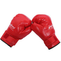 Wholesale Combat Breathable - New Adult Skulls Boxing Gloves PU Free Combat Fighting Sports Wearable Breathable For Muay Thai Training MMA UFC Karate Taekwondo Red Black