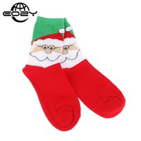 Wholesale 12 Pairs Christmas Socks - Wholesale- One Pair 2016 Autumn Winter Thick Christmas Socks Cotton Santa Claus Wapiti Snow Printed Socks Women and Men 12 Colors