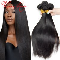 Kinky Peruvian Straight Weave Bulk 3 Bundles Lot Unprocessed Virgin Hair Bundle Deals Malasia Brazilian Indian Hair Weaves For Sale