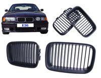 Wholesale bmw series black kidney grills online - 2x Matte Black Front Grille Kidney Grill Lattice For BMW Series E36 i P60