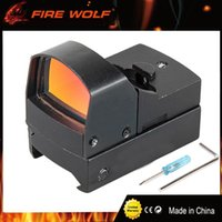 Wholesale Sensitive Switch - FIRE WOLF Doc 1x22 Brightness Sensitive Control Red Dot Sight With Switch For Airsoft Outdoor Activities AR Black