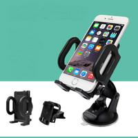 telefon çevirme standı toptan satış-Evrensel Cam 360 Derece Dönen Araç Enayi Montaj Braketi Tutucu Telefon GPS Tablet PC için Standı