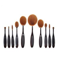 black power bag - Makeup Brush With Opp Bag Beauty Toothbrush Shaped Foundation Power Makeup Oval Cream Puff Brushes sets Oval Brushes DHL