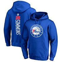 Personalizado 25 Baratos-2017 basketball 76ers Hoodies 3 IVERSON 21 EMBIID 25 SIMMONS 20 Fultz any CUSTOM NAME AND Number SUDADERAS