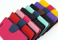 Wholesale Iphone4 Leather Cases - Top quality Mercury Wallet Case Flip Cover Stand Leather TPU PU Case for iPhone4 4s 5 5SE 6 6s plus 7 7 plus Free DHl come with Package