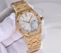 Wholesale Gold Watch Diamonds Cheap - Rose gold diamond bezel date Promotion cheap automatic Selling fashion new brand women watch stainless steel wristwatch Women's Watches