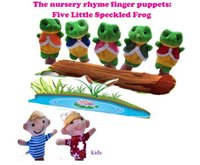 Wholesale Puppet Frog - Wholesale- The nursery finger puppets Five little speckled frogs finger dolls wholesales