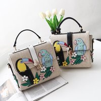 Wholesale Birds Tote - Brand Bag Women Embroidered bird Messenger Bags Handbags crossbody bags for Women Shoulder Bags Designer Handbags