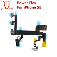Wholesale Power Replacement Parts - For iPhone SE Power Button Volume Buttons Connector Flex Cable Light Sensor Power Switch ONOFF Original Replacement Parts