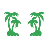 Wholesale blue tree wall decals - Handicrafts Vinyl Decals Car Stickers Glass Stickers Scratches Stickers Wall Die Cut Bumper Accessories Jdm 11cm x 16cm Palm Tree