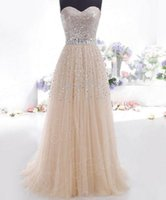 Wholesale Dress Cheap Night Long - Cheap woman party dress, sexy Strapless sequins, long, Maxi formal dress, party dresses gauze ladies champagne Vestidos free shipping