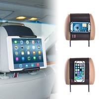 ipad mini araba bağları toptan satış-Tabletler ve Cep Telefonları için TFY Universal Araç Kafalık Montaj Tutacağı - iPad iPad Mini Air - Samsung Tablet - iPhone