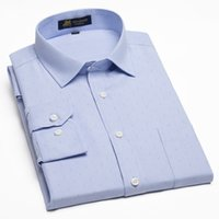 Wholesale Classic Shirts Design For Men - Wholesale- Oxford No-Iron Men's Dress Shirts For Work Office Wear Classic Design Business Formal Shirts For Men Autumn&Winter Clothes